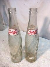 Vintage 1960s Pepsi Bottle 10 Fl. Oz. Pair