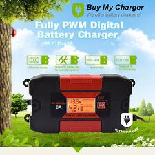 12V 6A Full PWM Digital  Gel/Lead-Acid/Maintenance-free Battery Charger 110~240V