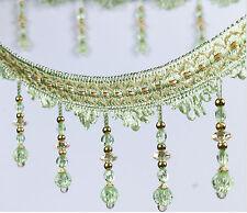 1m  green Bead Lace Curtain Sewing Tassel Fringe Trim Ribbon Accessory DIY