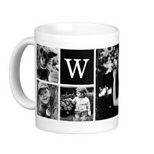 Personalized Collage Coffee Mug Custom Cup White Gift Ceramic Logo Text Photo