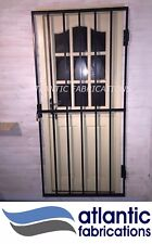 Steel security gate 1800mm x 900mm powder coated black