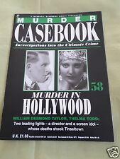 MURDER CASEBOOK- MURDER IN HOLLYWOOD - # 58- THELMA TODD- WILLIAM DESMOND TAYLOR