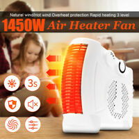 1450W Electric Portable Air Heater Fan Desktop Heating Warm Home Office  ☆  *