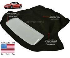 BMW Z3 1996-2002 Convertible Soft Top & Plastic Window Black Twillfast II Cloth