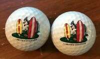 Set of 2 Disney Goofy Winter Summerland Mini Golf Balls Pinnacle Limited Edition