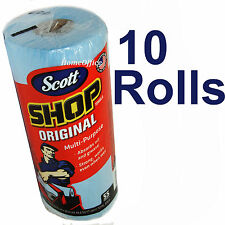 Scott Multi Purpose Shop Cleaning Towels 10 Rolls Disposable Wipes Pack