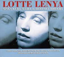 LOTTE LENYA - SINGS KURT WEILL & BERTOLT BRECHT - (NEW SEALED 3CD)