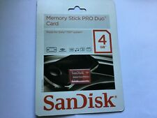 1pcs new 4GB SANDISK Red Sony Memory Stick Pro duo Card for Sony Cameras, PSP