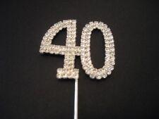 Diamante Number 40 Cake Topper