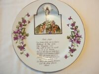 "VINTAGE THE LORD'S PRAYER 10 1/2"" HANGING PLATE"