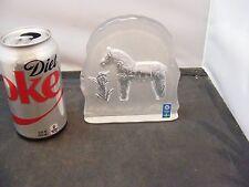 art glass horse paperweight