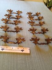 """10 Vtg Antique Fancy SHABBY CHIC Provincial Brass Pull Handle Drawer 2 1/2"""" CC"""