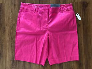 "Womens Petite TALBOTS Stretch Pink Perfect 9.5"" Shorts Size 14P NEW"