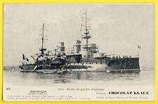 """cpa Flotte de Guerre Française Le CUIRASSÉ à TOURELLE """"CHARLEMAGNE"""" Battleship"""