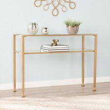 JST37575 GOLD METAL / GLASS SOFA CONSOLE TABLE