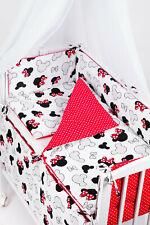 7-tlg Baby Baldachin Nestchen Bettset Bettwäsche für Beistellbett Wiege Minnie