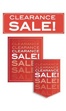 Single Sided Glossy Paper Clearance Sale Sign Kit - 11 Pieces