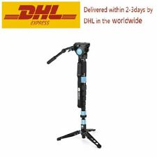 SIRUI P-424SR +VH-10 Multifunction 4 Section Carbon Fiber Monopod and Video Head