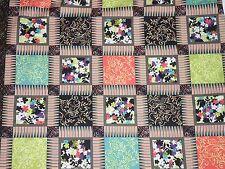 Quilt Cotton Fabric Costa de Las Flores EBI Prints Floral Blocks craft quilt BTY