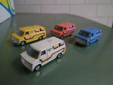 4x Yatming Delightful Van - Yellow, Orange, Blue & White