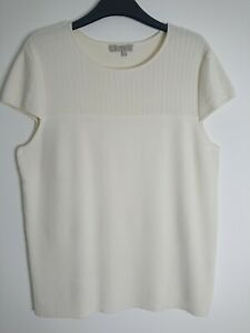 Hobbs Ivory Lace Top Summer Jumper Top Size L 14-16 Cap Sleeves, Business Office