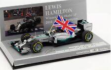 F1 1/43 MERCEDES GP W05 HAMILTON WIN ABU DHABI GP WORLD CHAMPION 2014 MINICHAMPS