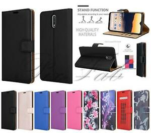 For Nokia 2.3, 2020 Leather Wallet Shockproof Stand Phone Case + 9H Screen Glass