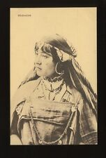 North Africa BEDOUINE ethnic Lady native dress fashion c1920/30s? PPC