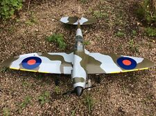 RC NITRO  Model aeroplane. R/C Warbird Spitfire wingspan 1400mm. SC 40 ENGINE