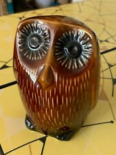 Arthur Wood Retro Vintage Owl Pottery Money Box with Original Stopper