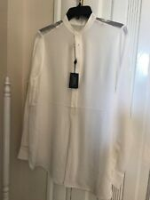 Polo Ralph Lauren Sheer Shoulder Silk Blouse