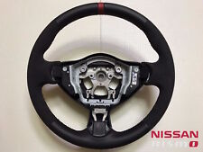 NISSAN 370Z NISMO OEM RACING ALCANTARA & LEATHER STEERING WHEEL W/ RED STITCHING