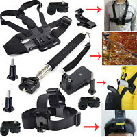 Kit Accessories Chest Strap+Head Monopod Mount for Sony Action Cam/Gopro hero 5
