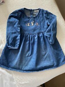 denim dress Girl 12-18 Months