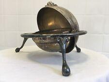 Sweet.Vintage Silver Plate Bon Bon Dish. Pot. Basket. Lion Head Butter Dish