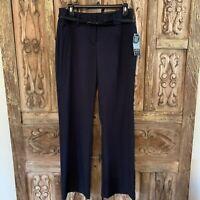 Apt 9 Modern Fit Women's Size 6 Pants Black Trouser Dress Pants With Belt
