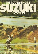 1974 The Rotary-Engine Suzuki is Coming - Vintage Motorcycle Ad