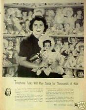 1951 Bell Telephone Operators Christmas Toy Dolls AD