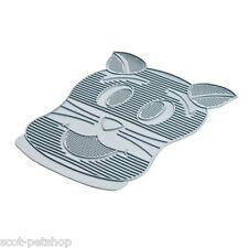 NEW Rubber Cat Litter Tray Toilet Clean Mat Grey