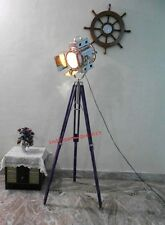 Home Decor  Vintage Design Blue  Tripod Lighting Searchlight Spot Light
