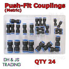 Assortiment boîte de emboîtez les connecteurs métrique 4 6 8 10 12 14mm qté 24 push-fit