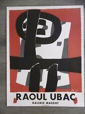 UBAC Raoul Affiche originale litho MOURLOT Cologne Abstrait années 50