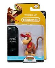 Super Mario World Of Nintendo Figurine Diddy Kong 6 CM Gorilla Vidéo