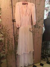 Lovely Antique Pink Prom Dress 1950s Tulle Skirt Millinery Rose #S