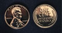 1957 PROOF Lincoln Wheat Cent Penny // Beautiful Luster!