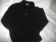 SAKS FIFTH AVENUE COLL. LUXURY SOFT POLISHED BUTTON CASHMERE POLO SWEATER- L