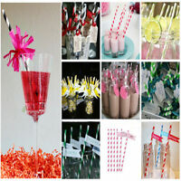 25pcs/lot  drinking paper straws for kids birthday party wedding christmas