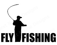 Fishing, Fly Fishing, Trout, Fly, Waders, Reel, Cast, Window Sticker, Car Decal