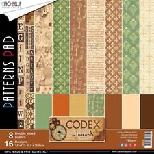 "Ciao Bella 8 Sheet Paper Pad Codex Leonardo 12"" X 12"" 16 Designs New"