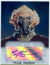 Star Wars Evolution Update Autograph Card Matt Sloan As Plo Kloon